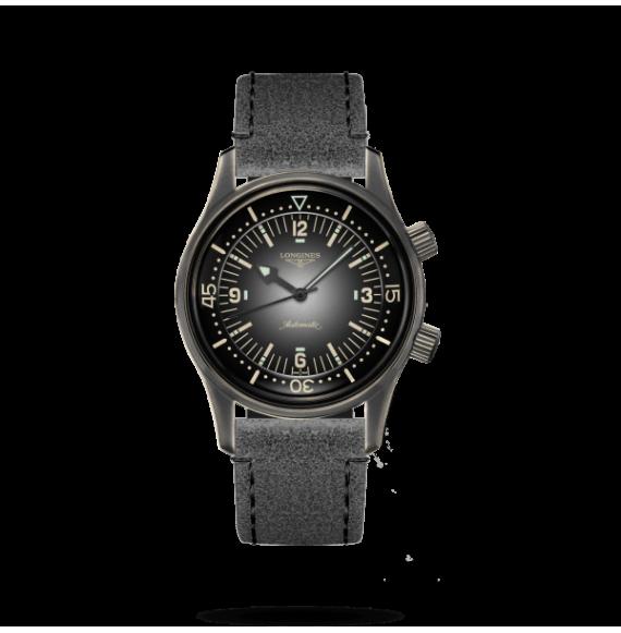 Reloj Longines Heritage Legend Diver L3.774.2.58.2 automático con PVD negro para hombre