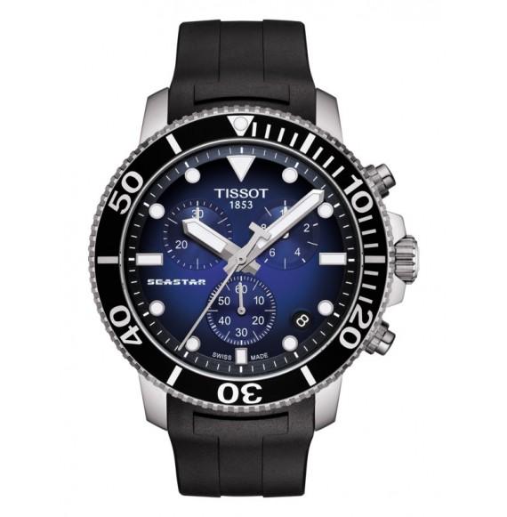 Reloj Tissot T-Sport Seastar 1000 Chronograph T120.417.17.041.00 Cuarzo de acero para hombre