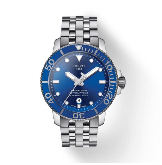 Reloj Tissot T-Sport Seastar 1000 Powermatic 80  T120.407.11.041.00 Automático de acero para hombre