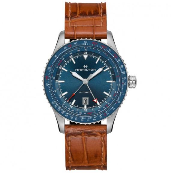 Reloj Hamilton Khaki Aviation Converter Auto GMT H76715540 de acero para hombre