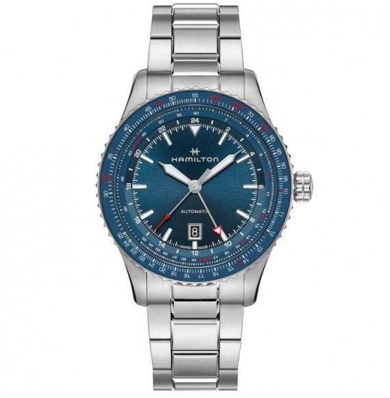 Reloj Hamilton Khaki Aviation Converter Auto GMT H76715140 de acero para hombre