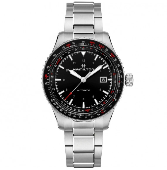 Reloj Hamilton Khaki Aviation Converter Auto H76615130 de acero para hombre