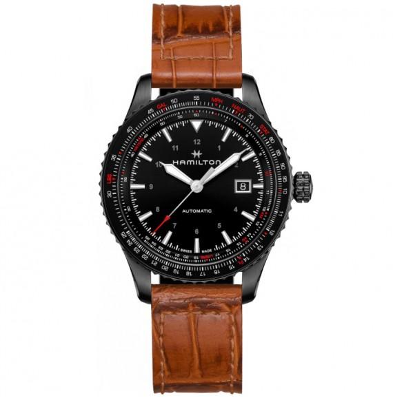 Reloj Hamilton Khaki Aviation Converter Auto H76615530 con PVD negro para hombre