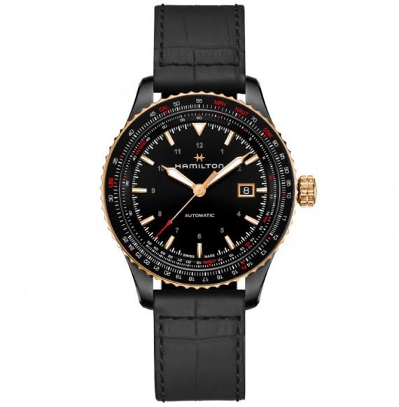 Reloj Hamilton Khaki Aviation Converter Auto H76635730 con PVD negro para hombre