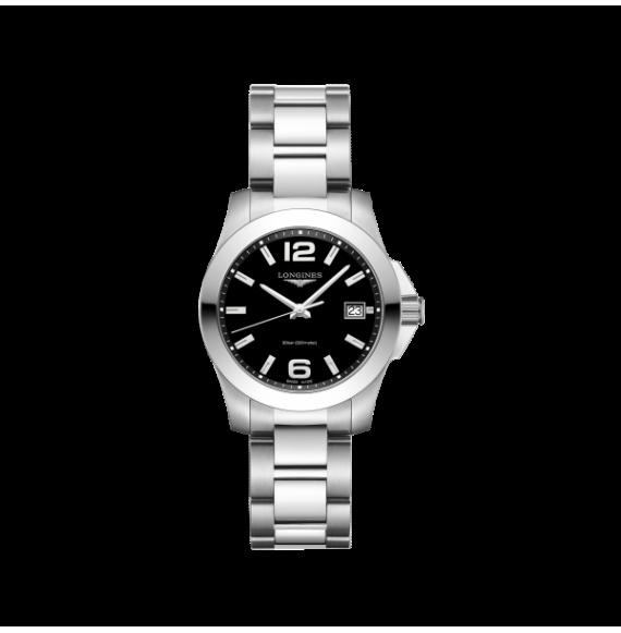 Reloj Longines Conquest L3.377.4.58.6  cuarzo de acero para mujer
