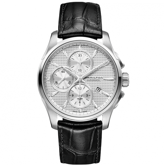 Reloj Hamilton Jazzmaster Auto Chrono H32596751 de piel de vaca negra para hombre