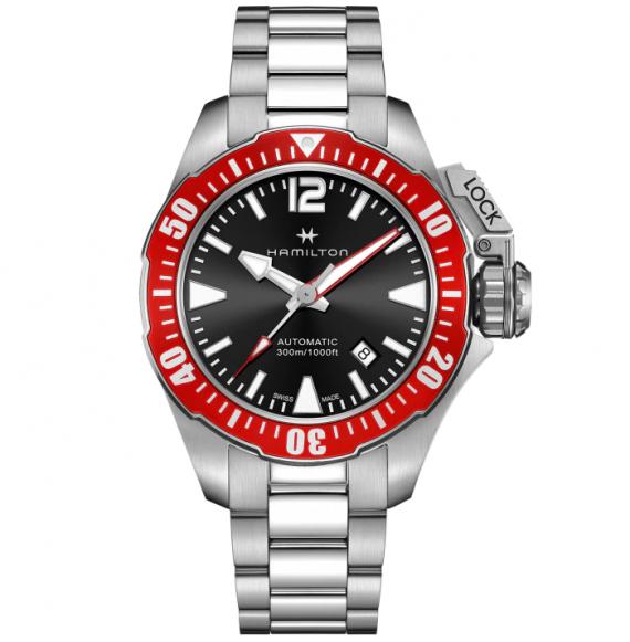 Reloj Hamilton Khaki Navy Frogman Auto H77725135 de acero para hombre