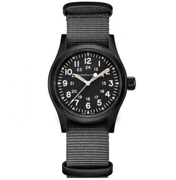 Reloj Hamilton Khaki Field Mechanical H69409930 de nylon para hombre