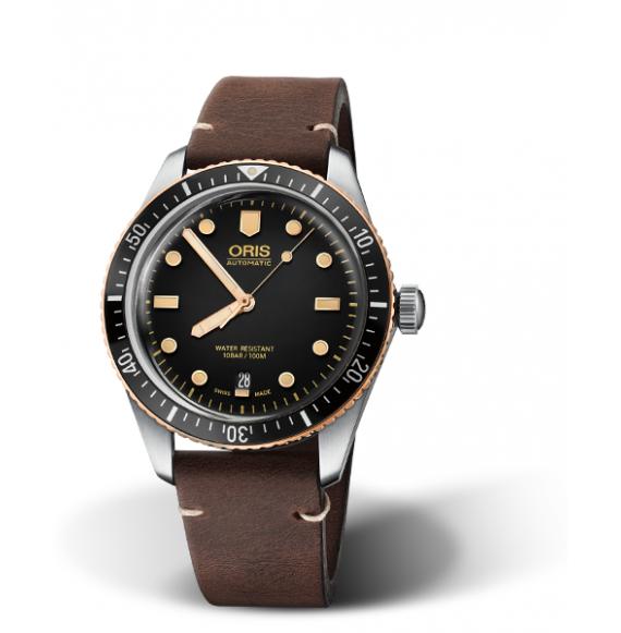 Reloj Oris Divers Sixty-Five 733 7707 4354-07 5 20 55 automático de acero para hombre