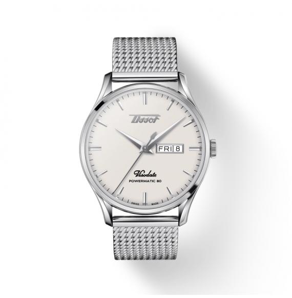 Reloj Tissot Heritage Visodate Powermatic 80 T118.430.11.271.00 de acero para hombre