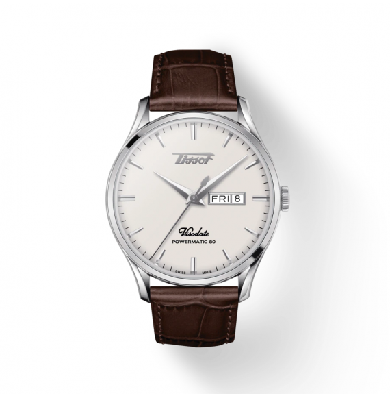 Reloj Tissot Heritage Visodate Powermatic 80  T118.430.16.271.00 de piel marrón para hombre