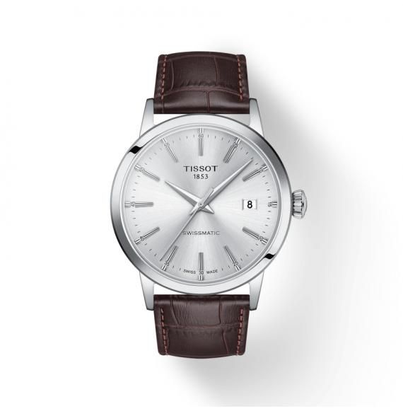 Reloj Tissot T-Classic Dream Swissmatic  T129.407.16.031.00 automático de piel marrón para hombre