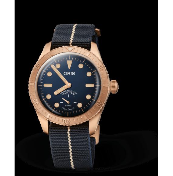 Reloj Oris Divers Carl Brashear Calibre 401 Limited Edition 01 401 7764 3185-Set automático de bronce para hombre
