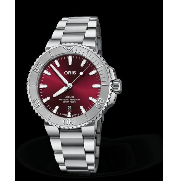 Reloj Oris Aquis Date Relief  01 733 7766 4158-07 8 22 05PEB automático de acero para hombre