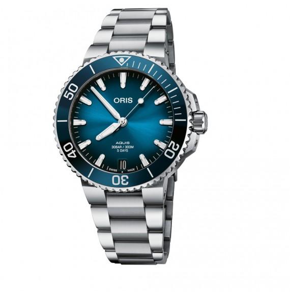 Reloj Oris Aquis Date Calibre 400  01 400 7769 4135-07 8 22 09PEB automático de acero para hombre
