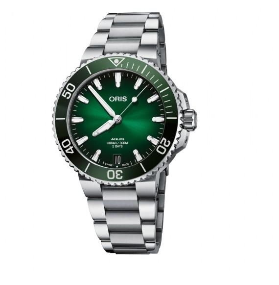 Reloj Oris Aquis Date Calibre 400 01 400 7769 4157-07 8 22 09PEB automático de acero para hombre