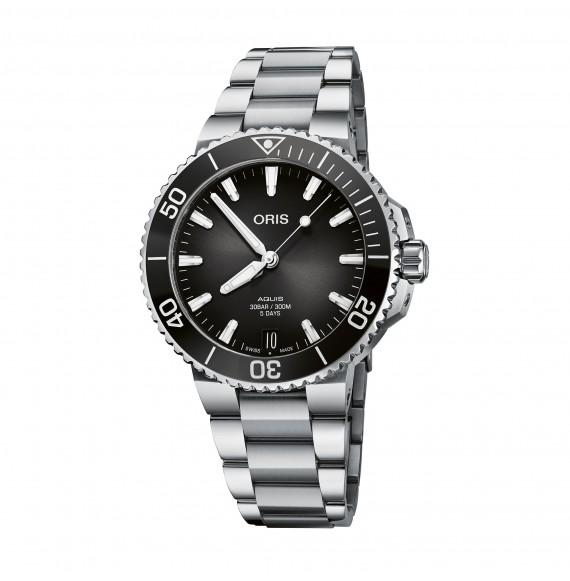 Reloj Oris Aquis Date Calibre 400 01 400 7769 4154-07 8 22 09PEB automático de acero para hombre