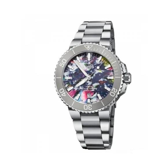 Reloj Oris Aquis Date 01 733 7766 4150-Set  automático de acero para hombre