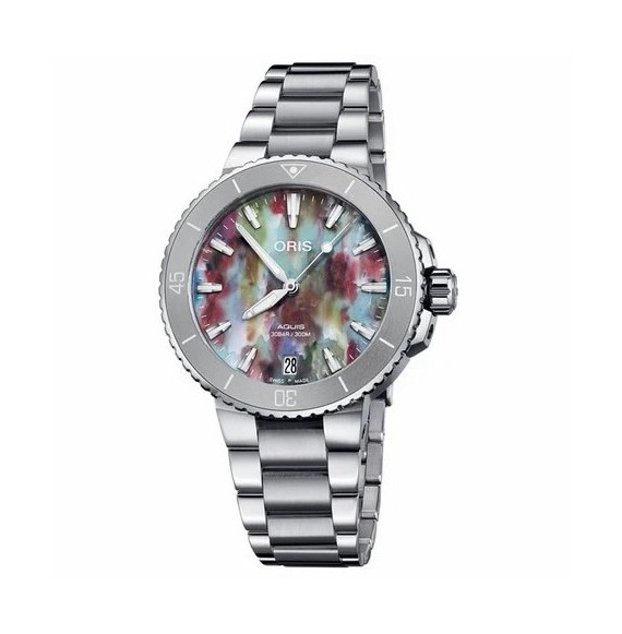 Reloj Oris Aquis Date 01 733 7770 4150-Set automático de acero para mujer