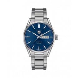 Reloj azul Tag Heuer Carrera automático de acero satinado pulido para hombre