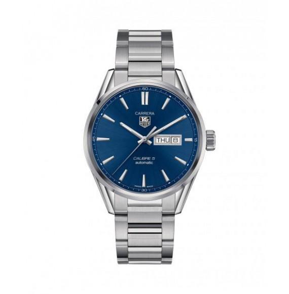 Reloj azul Tag Heuer Carrera WAR201E.BA0723 automático de acero satinado pulido para hombre