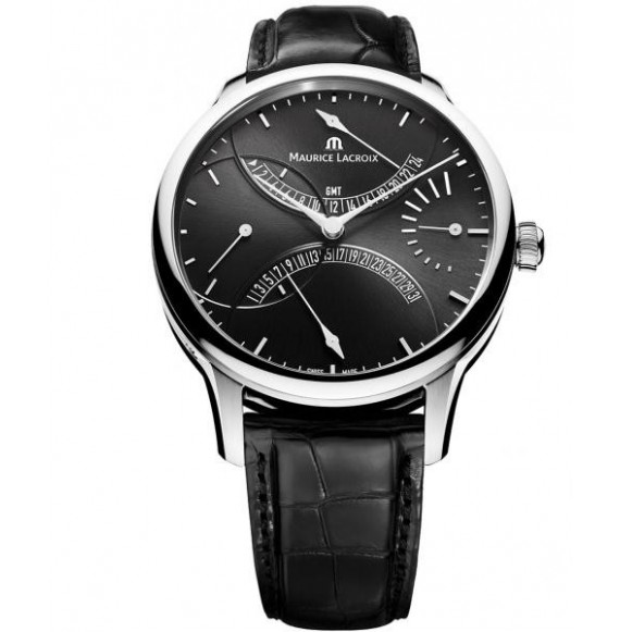 MAURICE LACROIX MASTERPIECE DOUBLE RETROGRADE BLACK DIAL