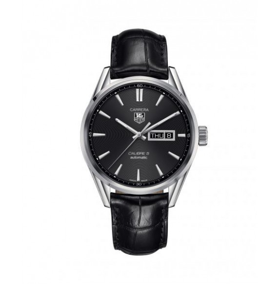 Reloj acero Tag Heuer Carrera WAR201A.FC6266 automático de piel de cocodrilo negra para hombre
