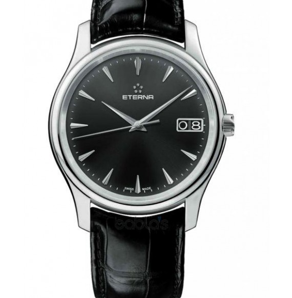 ETERNA VAUGHAN BIG DATE BLACK DIAL